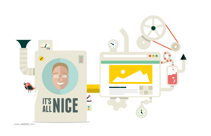 The It's All Nice website-making machine!